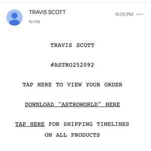 Off White x Travis Scott Astroworld tee
